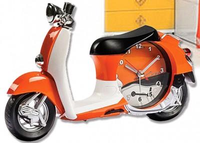 Time Gold - Time Gold Vespa Motorsiklet Modelli Çocuk Odası Duvar ve Masa Saati