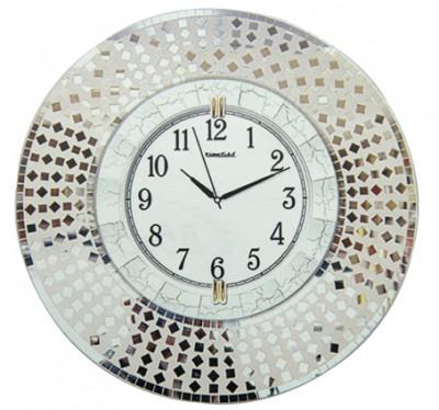 Time Gold - Time Gold Yuvarlak Parça Ayna Gövdeli Dekoratif Duvar Saati