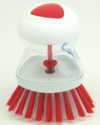 Titiz - Titiz Deterjan Hazneli Bulaşık Fırçası Kırmızı