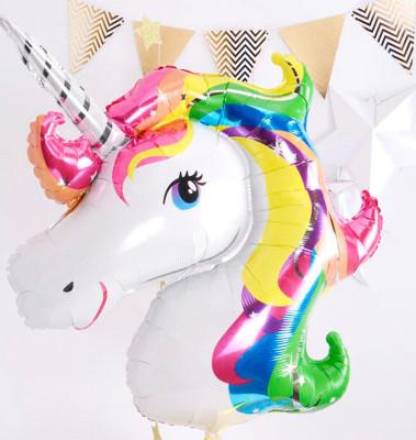 Diğer - Unicorn Tek Boynuzlu At Folyo Balon 92x126cm