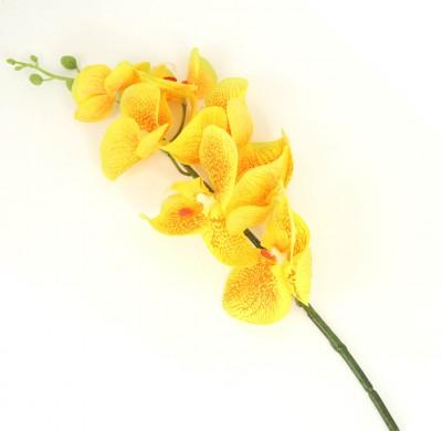 Diğer - Uzun Dal Islak Yapay Orkide Çiçeği Sarı