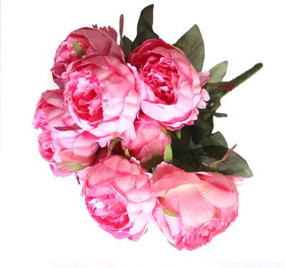 Diğer - Yapay Çiçek Dolgun Şakayık Demeti 40cm Pembe