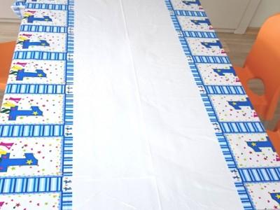 Diğer - 1 Yaş Doğum Günü Masa Örtüsü Mavi
