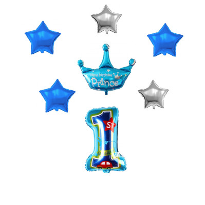 Diğer - 1 Yaş Partisi Folyo Balon Seti Mavi