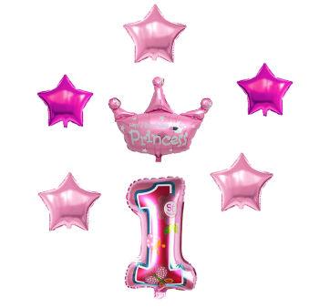 1 Yaş Partisi Folyo Balon Seti Pembe