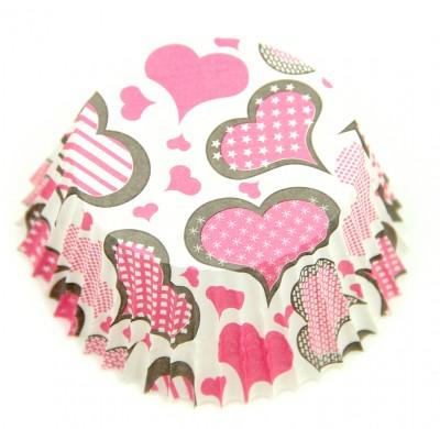 Diğer - 100lü Kalp Desenli Muffin ve Cupcake Kalıbı