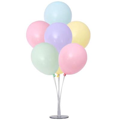 100lü Makaron Soft Renk Parti Balonu Karışık Renkli - Thumbnail
