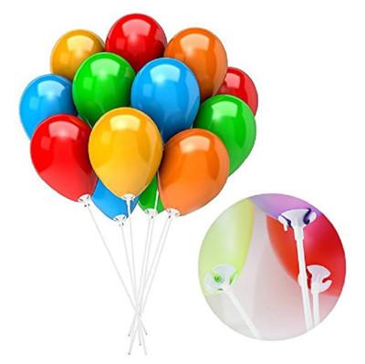 Diğer - 10lu Balon Çubuğu Seti Beyaz