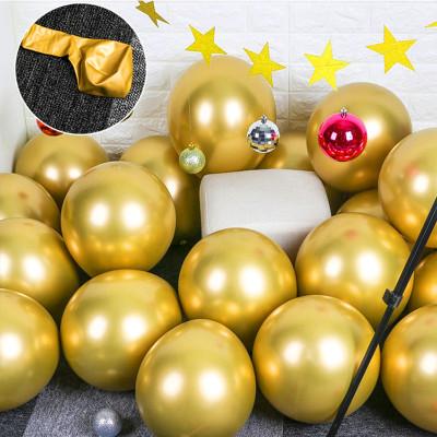 Diğer - 10lu Krom Balon Parlak Süsleme Balonları Gold