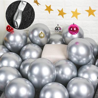Diğer - 10lu Krom Balon Parlak Süsleme Balonları Gümüş