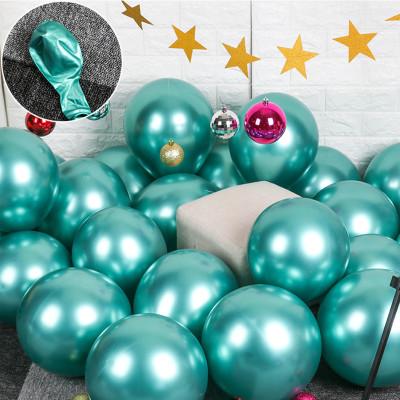 Diğer - 10lu Krom Balon Parlak Süsleme Balonları Yeşil