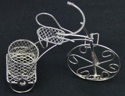 Diğer - 10lu Metal Bisiklet Nikah ve Kına Şekeri Süsleme Malzemesi Gümüş