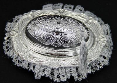 Diğer - 10lu Osmanlı Motifli Nikah Şekeri Lokumluk Gümüş
