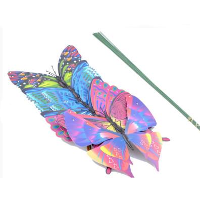 Diğer - 10lu Uçan Kelebek Çubuklu Saksı Süsü
