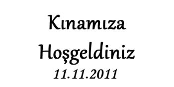 120li Dikdörtgen Kına Gecesi Etiketi 3,1x1,4cm