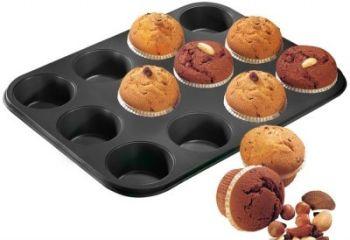 12li Metal Yapışmaz Muffin Kek Kalıbı