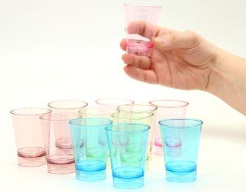 12li Mini Lohusa Parti Bardağı Şeffaf Renkler