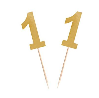 Diğer - 15li Parlak 1 Rakamı Parti Kürdanı Gold