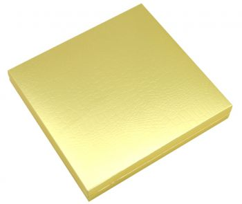 16 Bölmeli Desenli Düz Renk Madlen Karton Çikolata Sunum Kutusu Gold
