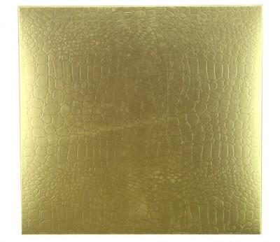 16 Bölmeli Desenli Düz Renk Madlen Karton Çikolata Sunum Kutusu Gold - Thumbnail