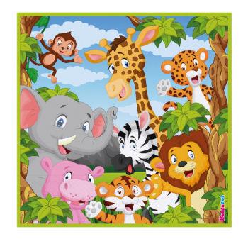 16 Kişilik Safari Temalı Orman Hayvanları Parti Seti 167 Parça