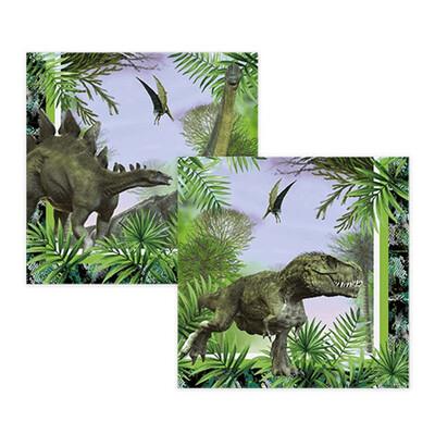 Diğer - 16lı Jurrasic Dinozor Kağıt Konsept Parti Peçetesi