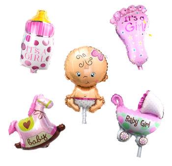 20 Kişilik Hoşgeldin Bebek Baby Shower Parti Seti 137 Parça Pembe