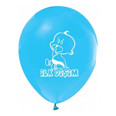 Diğer - 20li Diş Buğdayı Temalı Parti Balonu Mavi