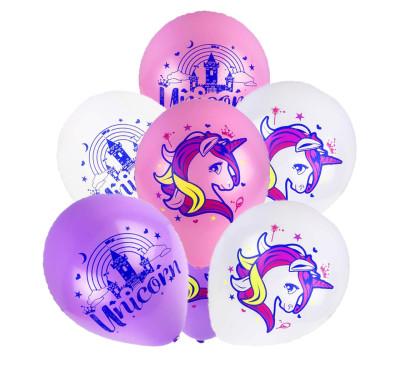 Diğer - 20li Karışık Unicorn Temalı Süsleme ve Parti Balonu