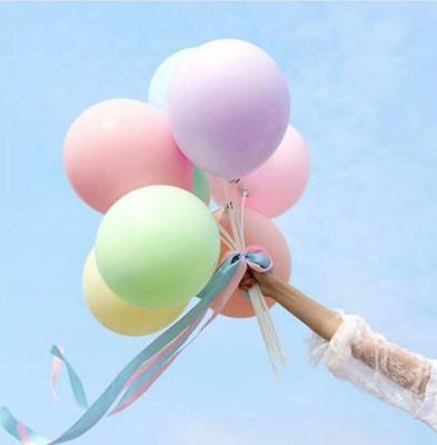 20li Makaron Soft Renk Parti Balonu Karışık Renkli - Thumbnail