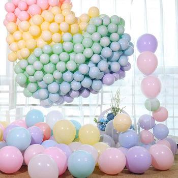 20li Makaron Soft Renk Parti Balonu Karışık Renkli