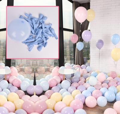 Diğer - 20li Makaron Soft Renk Parti Balonu Mavi