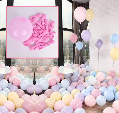 Diğer - 20li Makaron Soft Renk Parti Balonu Pembe