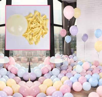 Diğer - 20li Makaron Soft Renk Parti Balonu Sarı