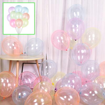 Diğer - 20li Şeffaf Parti Balonu Karışık Renkli
