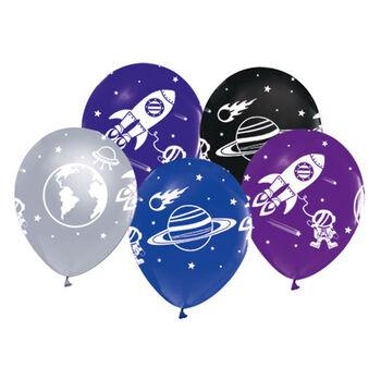 20li Uzay Temalı Süsleme ve Parti Balonu Karışık