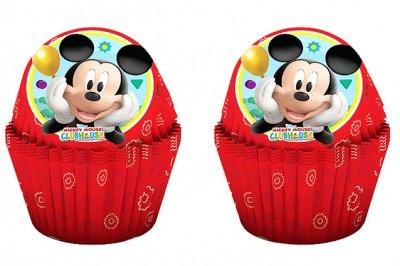 Diğer - 24lü Mickey Mouse Baskılı Kağıt Cupcake ve Muffin Kek Kalıbı