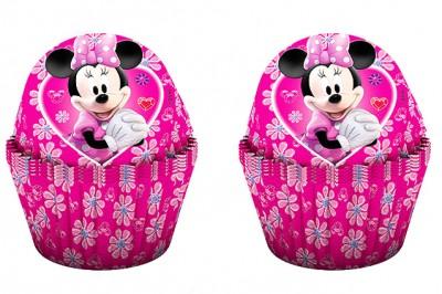 Diğer - 24lü Minnie Mouse Baskılı Kağıt Cupcake ve Muffin Kek Kalıbı