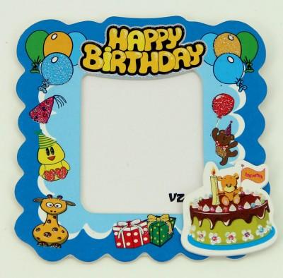 Diğer - 25li Doğum Günü Temalı Hediyelik Magnet Fotoğraf Çerçevesi Mavi