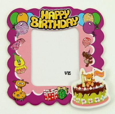 Diğer - 25li Doğum Günü Temalı Hediyelik Magnet Fotoğraf Çerçevesi Pembe