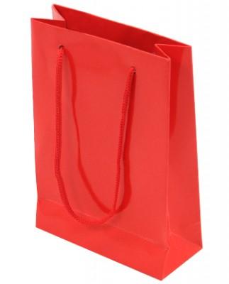 Diğer - 25li Düz Renk Karton Hediyelik Şeker Çantası Kırmızı 11x17cm