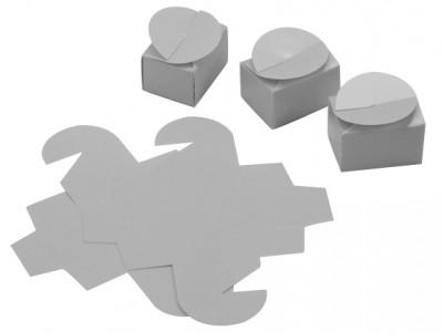 Diğer - 25li Mini Lokum ve Şeker Karton Hediyelik Kutusu Gümüş