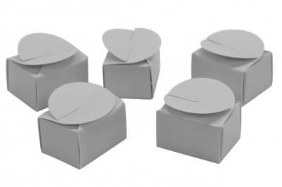 25li Mini Lokum ve Şeker Karton Hediyelik Kutusu Gümüş - Thumbnail