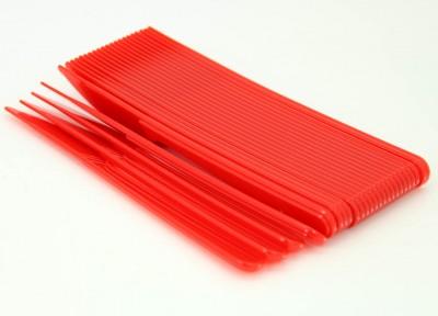 Diğer - 25li Piknik ve Parti İçin Plastik Bıçak Kırmızı