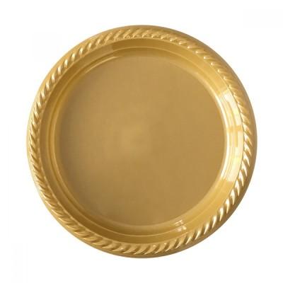 Diğer - 25li Piknik ve Parti İçin Plastik Tabak Gold