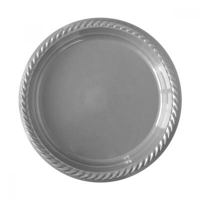Diğer - 25li Piknik ve Parti İçin Plastik Tabak Gümüş