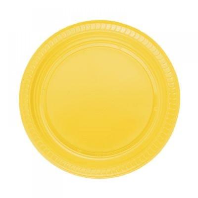 Diğer - 25li Piknik ve Parti İçin Plastik Tabak Sarı