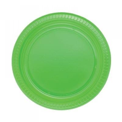 Diğer - 25li Piknik ve Parti İçin Plastik Tabak Yeşil