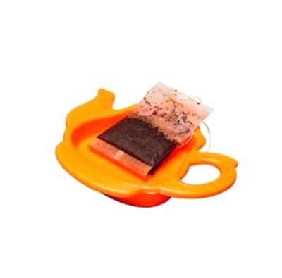Diğer - 2li Demlik Tasarımlı Poşet Çay ve Çay Süzgeci Altlığı