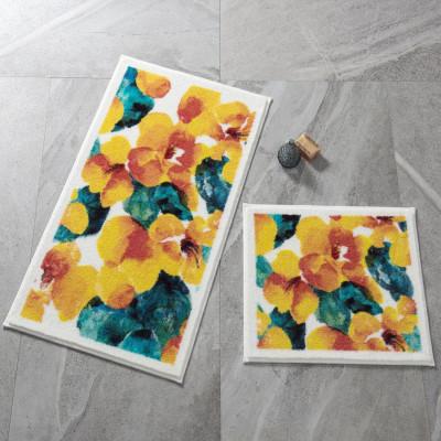 Confetti - 2li Flower Dust Banyo Halısı Takımı Sarı